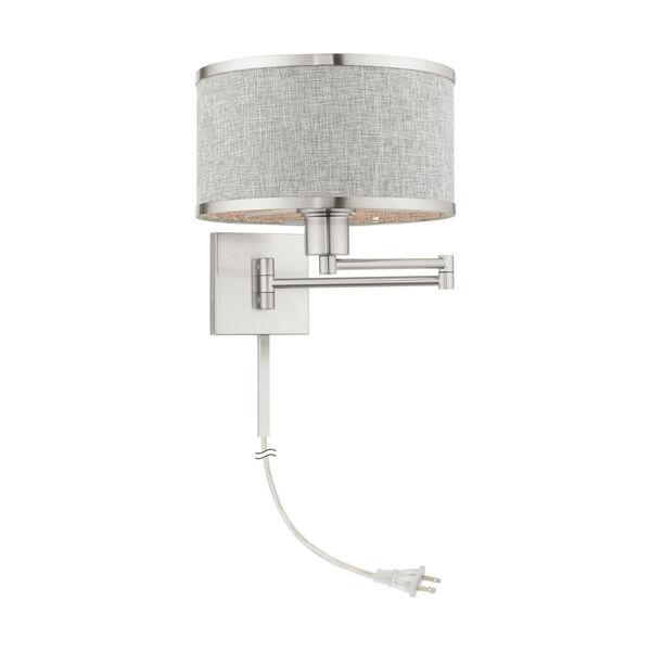 Park Ridge Brushed Nickel One-Light Swing Arm Wall Lamp, image 1