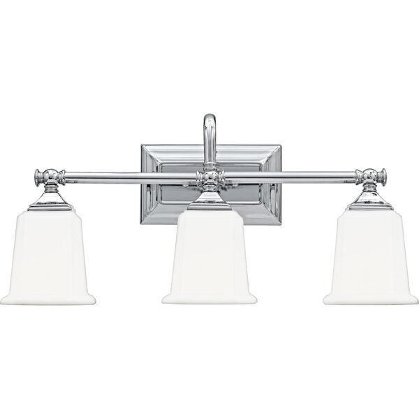 Nicholas Polished Chrome Three-Light Bath Light, image 1