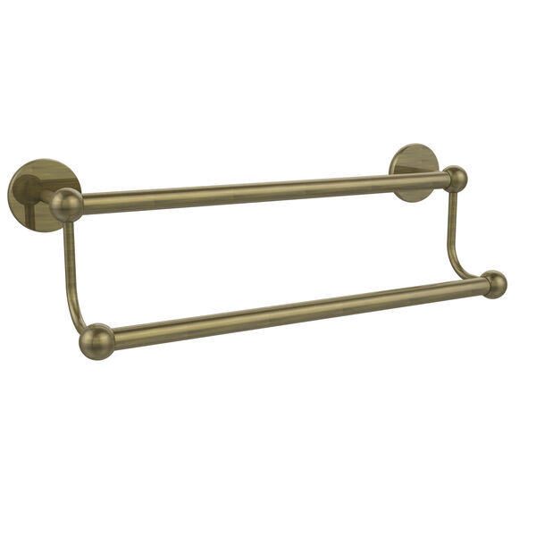 Antique Brass 18-Inch Double Towel Bar, image 1