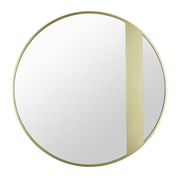 Cadet Gold Round Accent Wall Mirror, image 1