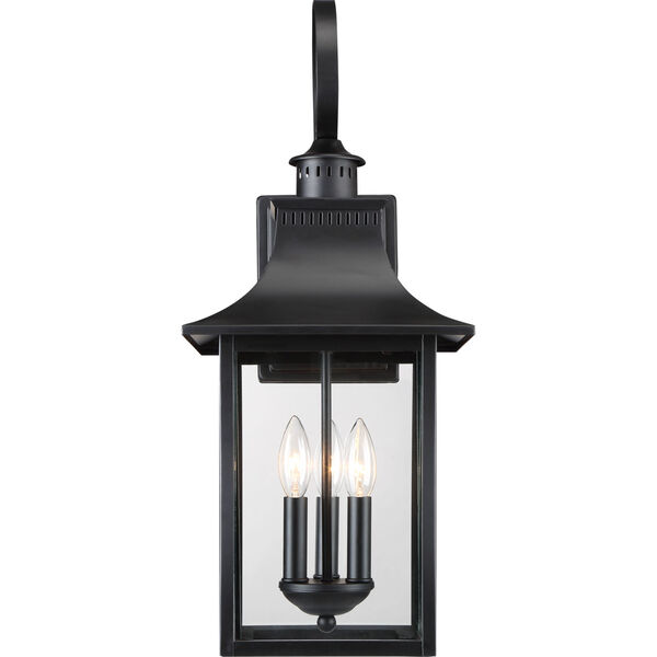 Chancellor Mystic Black Three-Light Outdoor Wall Sconce, image 3