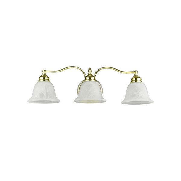 Essex Polished Brass 24-Inch Three-Light Bath Light, image 3