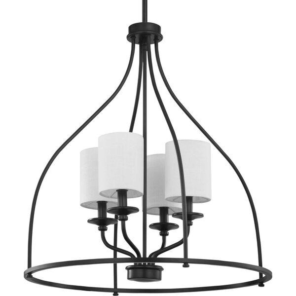 Bonita Black 23-Inch Four-Light Pendant, image 2