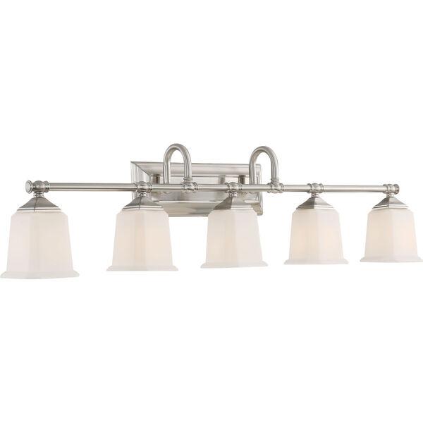 Nicholas Brushed Nickel Five-Light Bath Light, image 3