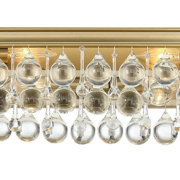 Calypso Eight-Light Vibrant Gold Bath Light, image 3