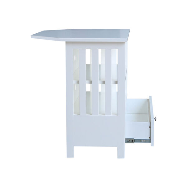 White 35-Inch TV Stand, image 5