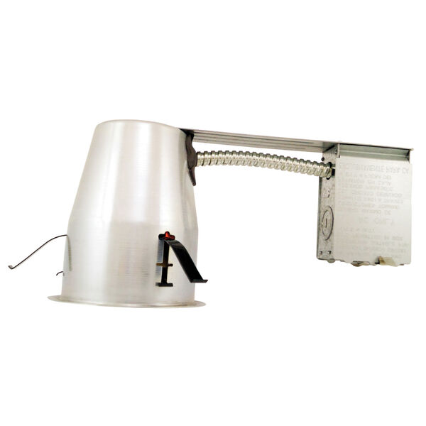White Four-Inch LED Recessed Housing Remodel Can, image 1