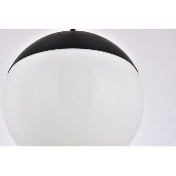 Eclipse Black and Frosted White 10-Inch One-Light Plug-In Pendant, image 4