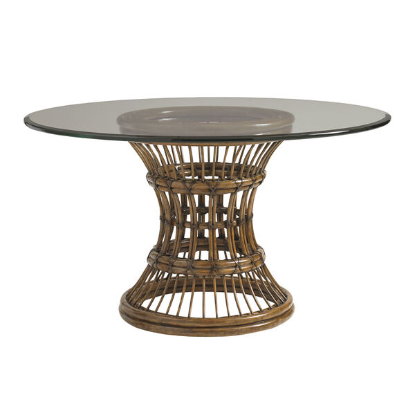 Bali Hai Brown Latitude Dining Table with 54 In. Glass Top, image 1