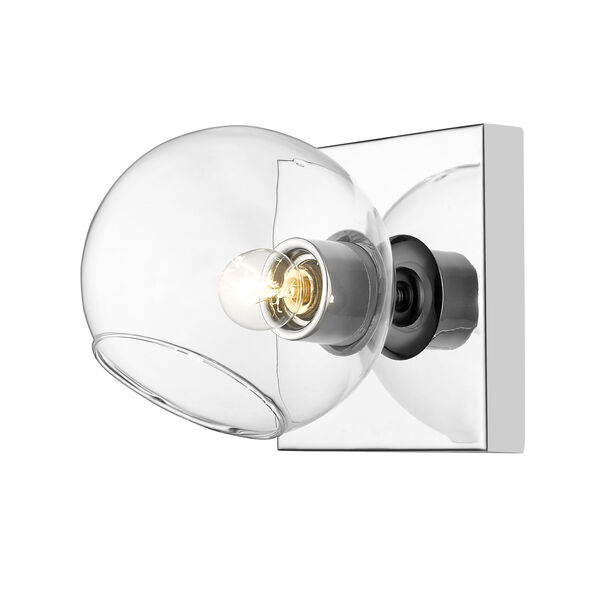 Marquee Chrome One-Light Bath Sconce, image 1