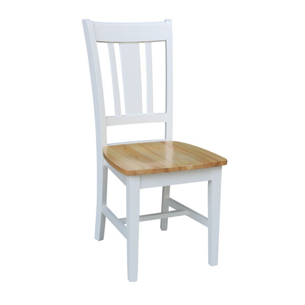 San Remo White Natural Chair, Set of Two, image 4
