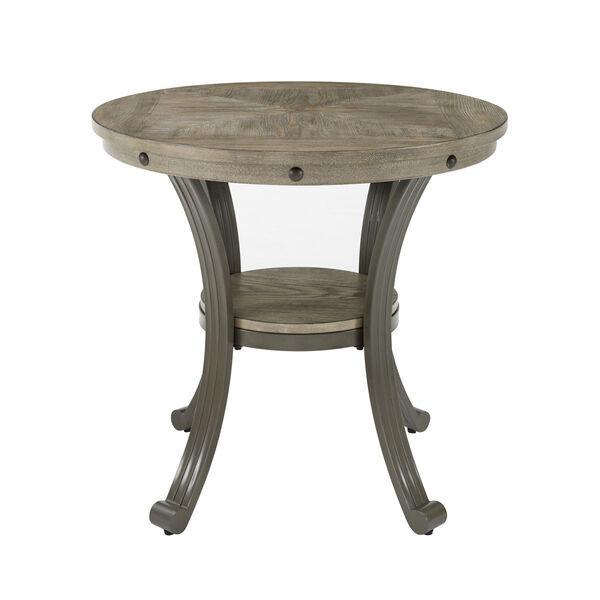 Elizabeth Pewter Round Side Table, image 1