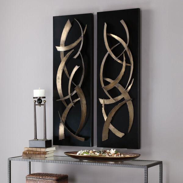 Brushstrokes Metal Wall Art, Set of 2, image 4