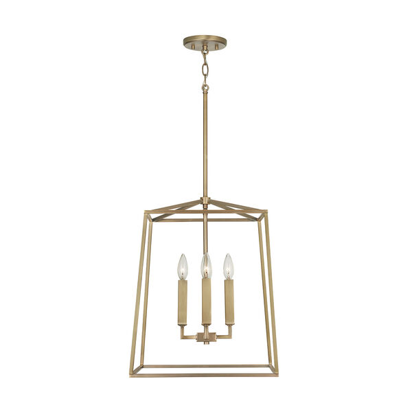 Thea Aged Brass 71-Inch Four-Light Foyer Pendant, image 2