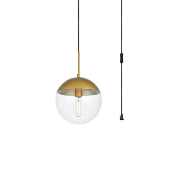 Eclipse Brass One-Light Plug-In Pendant, image 3
