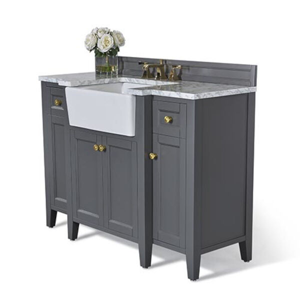 Adeline Sapphire 48-Inch Vanity Console with Farmhouse Sink, image 1