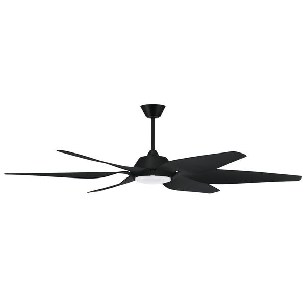 Zoom Flat Black 66-Inch One-Light Ceiling Fan, image 1
