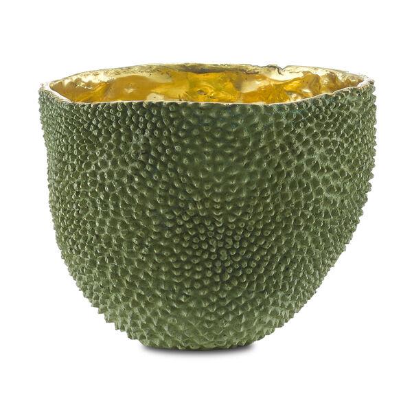 Green and Gold Large Jackfruit Vase, image 1