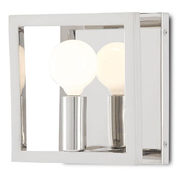 Quadrato Polished Nickel One-Light Wall Sconce, image 1