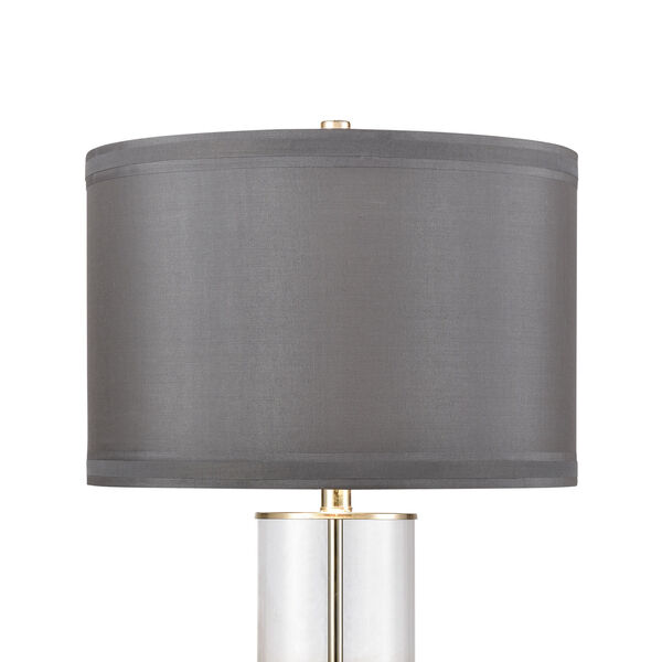 Clear and Chrome One-Light Table Lamp, image 3