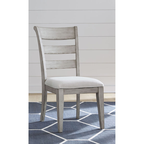 Belhaven Weathered Plank Ladder Back Side Chair, Set of Two, image 4