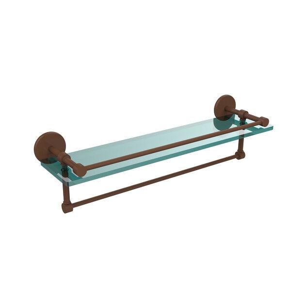 22-Inch Gallery Glass Shelf with Towel Bar, image 1