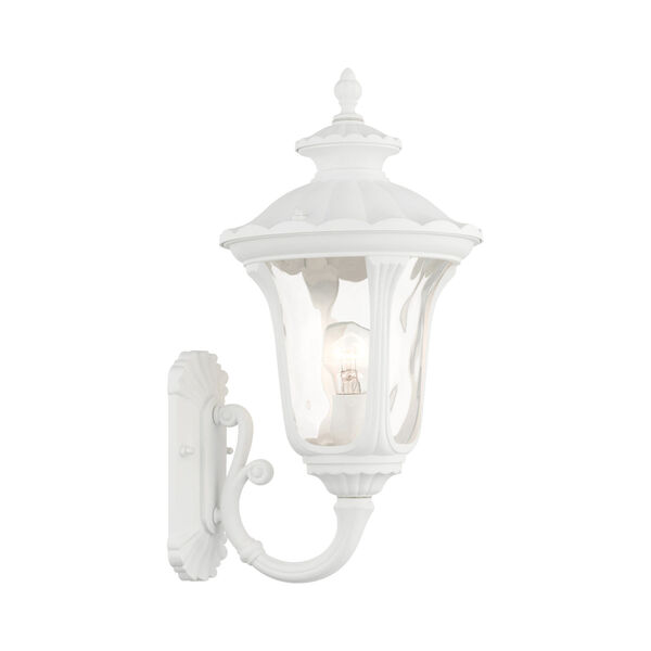Oxford Textured White 10-Inch One-Light Outdoor Wall Lantern, image 1