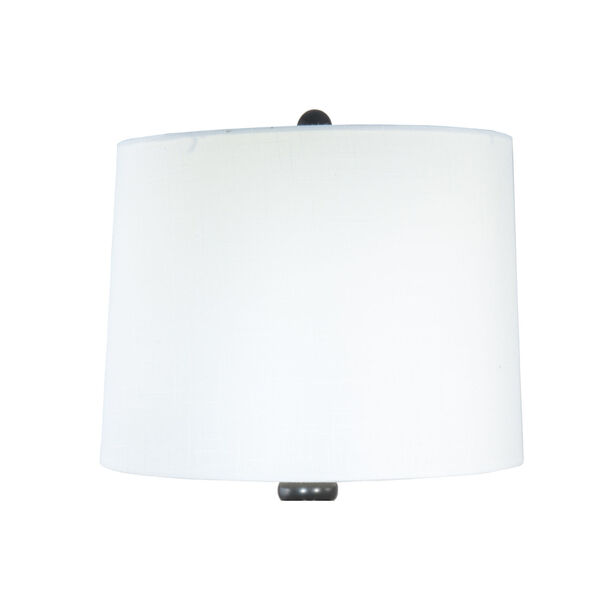 Halen Ebony Black and White One-Light Painted Crystal Table Lamp, image 3