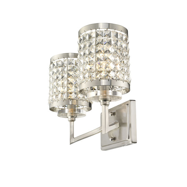 Grammercy Brushed Nickel 14.5-Inch Two-Light Bath Light, image 3