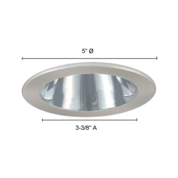 Chrome and Black 4-Inch Open Reflector Trim, image 3