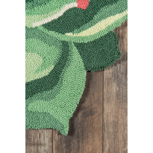 Cucina Succulent Green Round: 3 Ft. x 3 Ft. Round Rug, image 3