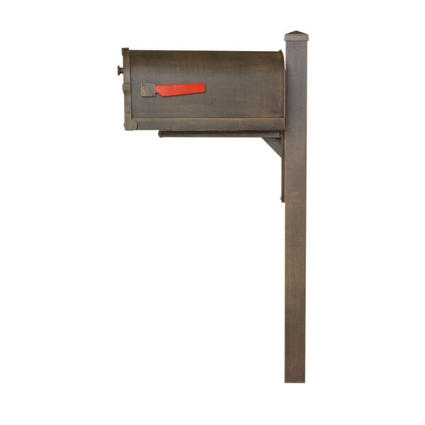 Savannah Curbside Copper Mailbox and Wellington Direct Burial Mailbox Post Smooth, image 4