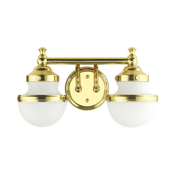 Oldwick Polished Brass Two-Light Bath Vanity, image 2
