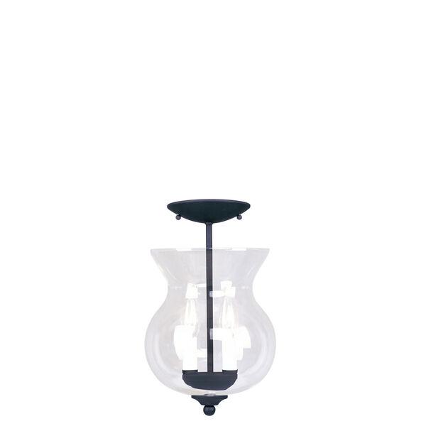 Heritage Black Two-Light Convertible Semi-Flush, image 2