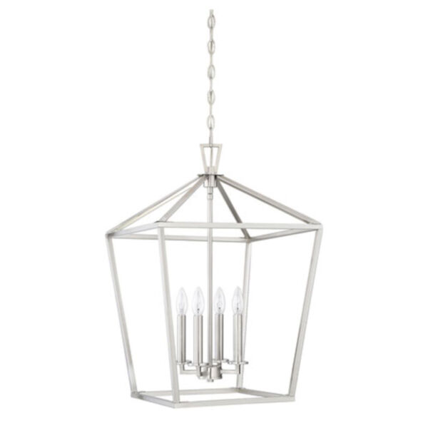 Anna Brushed Nickel 17-Inch Four-Light Pendant, image 2