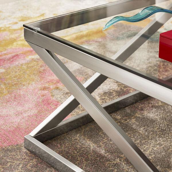 Elizabeth Brushed Nickel Coffee Table, image 5
