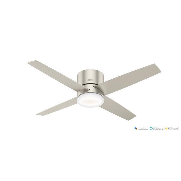 Advocate Low Profile Matte Nickel 54-Inch DC Motor Smart LED Ceiling Fan, image 3