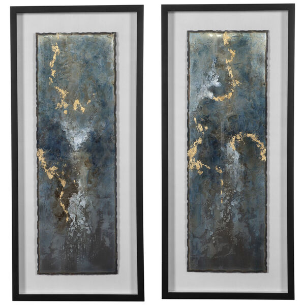 Glimmering Agate Multicolor Abstract Print, Set of 2, image 1