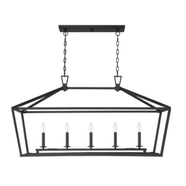 Anna Matte Black 16-Inch Five-Light Pendant, image 2