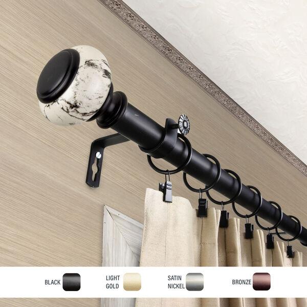Kelly Black 48-84 Inch Curtain Rod, image 3