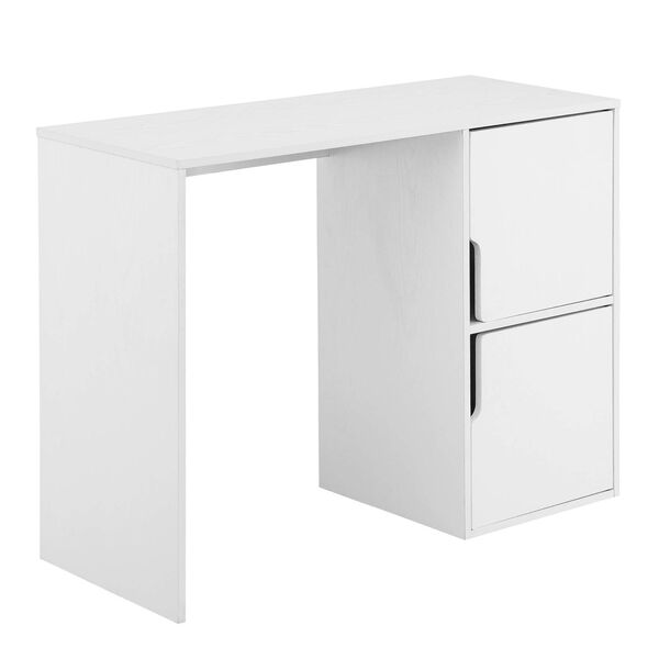 Designs2Go White Student Desk with Storage Cabinets, image 1