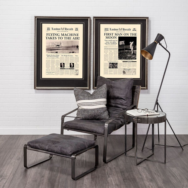 Eris III Black and Brass One-Light Floor Lamp, image 3
