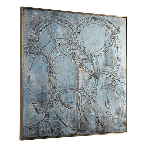 Interlock Blue Modern Art, image 4
