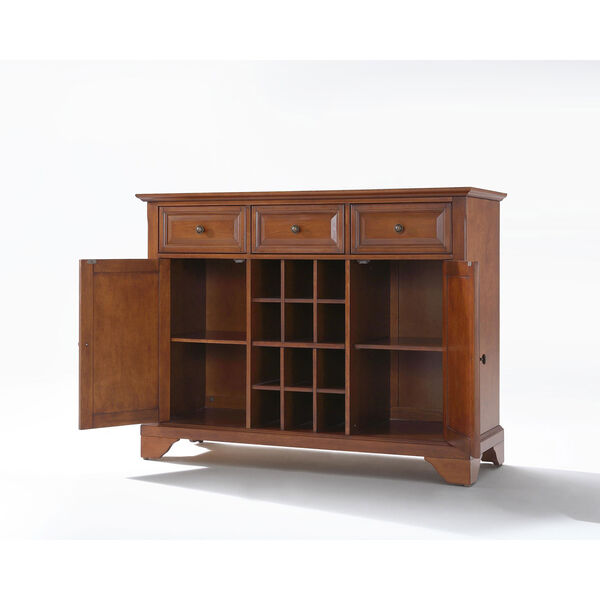 LaFayette Buffet Server / Sideboard Cabinet with Wine Storage in Classic Cherry Finish, image 2