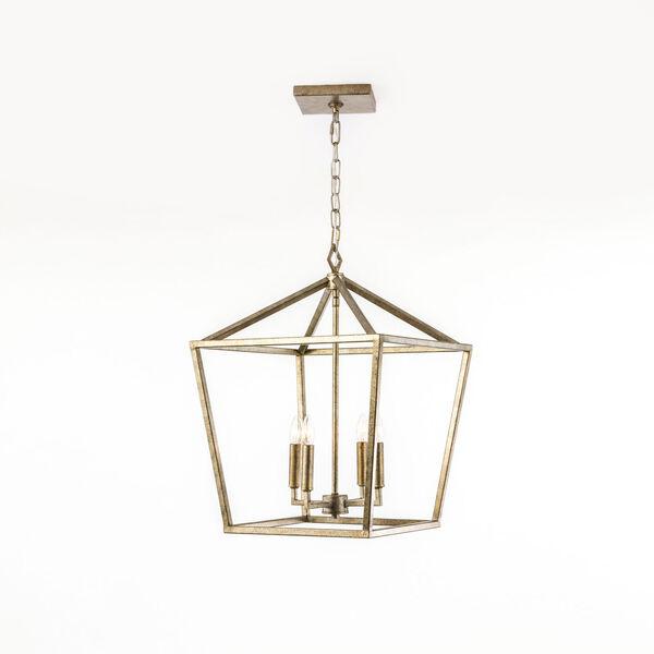 Kenwood Vintage Gold Four-Light Lantern Pendant, image 1