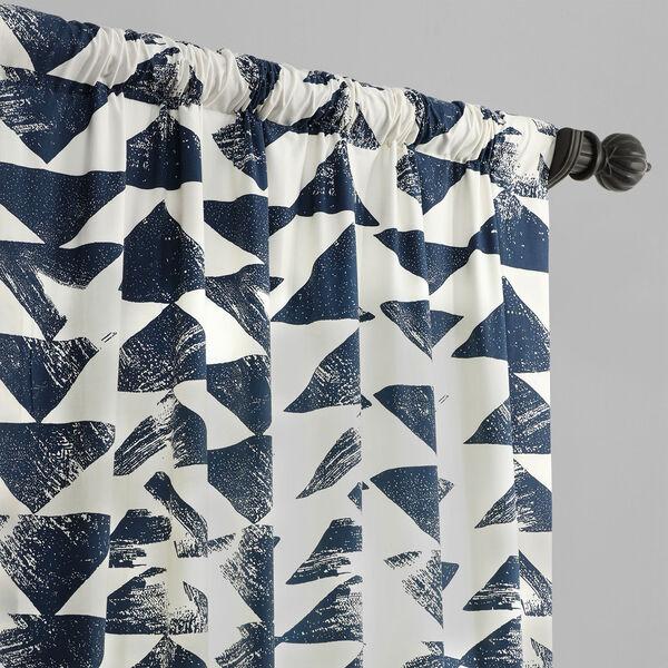 Triad Indigo 84 x 50 In. Printed Cotton Twill Curtain Single Panel, image 3