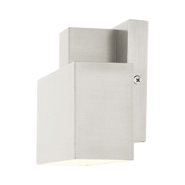 Lynx Brushed Nickel Seven-Inch One-Light Outdoor ADA Wall Sconce, image 6