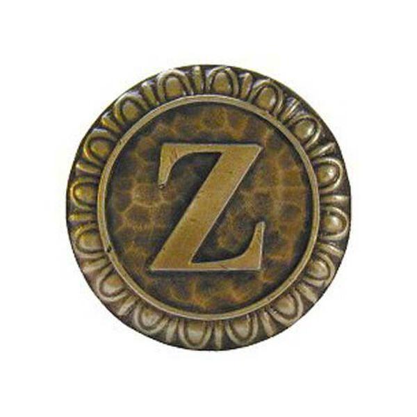 Antique Brass 'Z' Knob , image 1