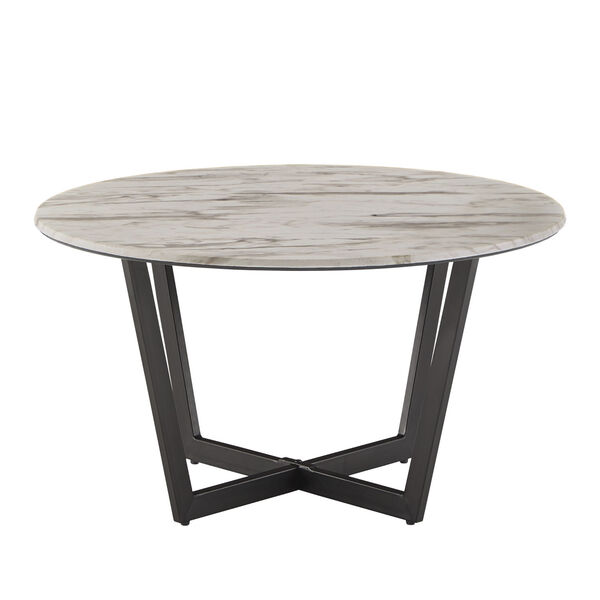 Danica White Faux Marble Coffee Table, image 2