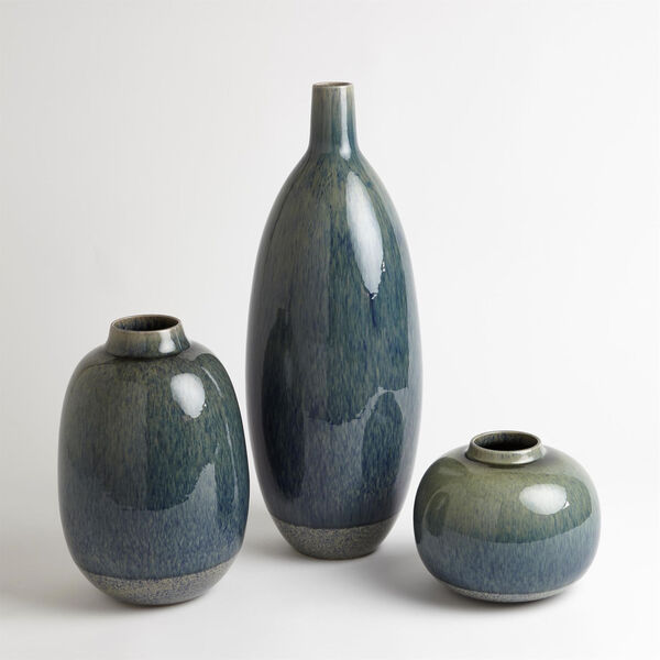 Studio A Home Blue Tall Tidal Vase, image 2